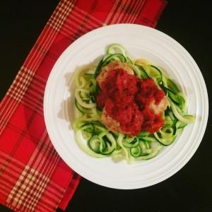 Healthier Spaghetti and Meatballs