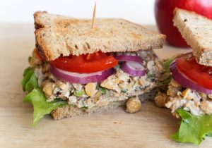 chickpea walnut sandwich